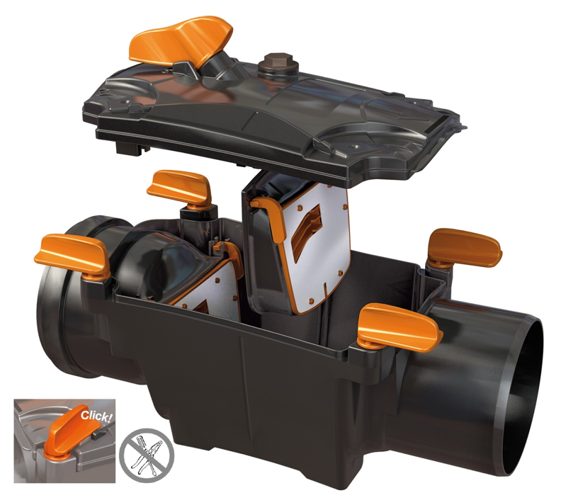 Facile-Manutenzione-No-Utensili-Apertura-Rapida-Valvola-Antiriflusso